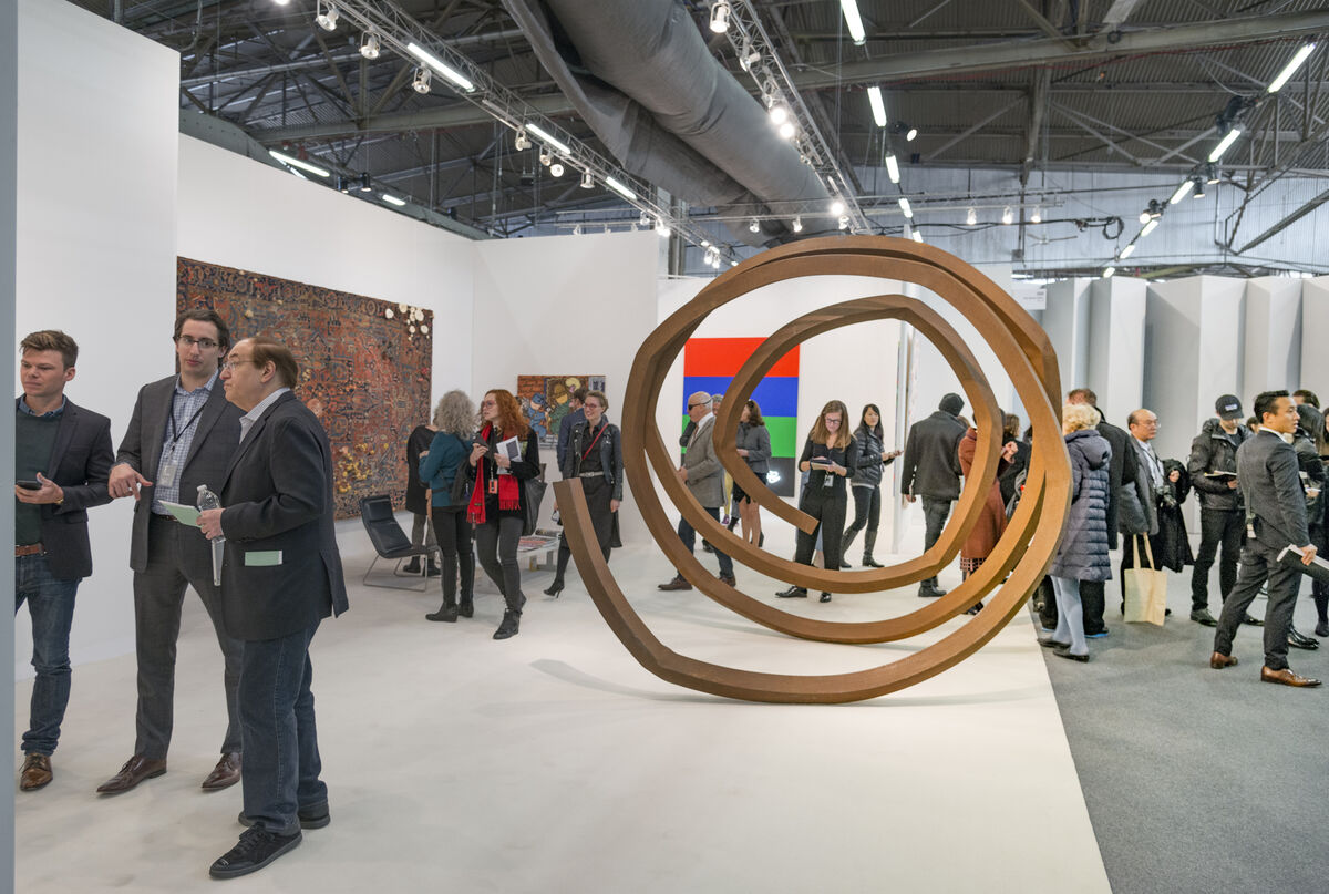 Installation view of Paul Kasmin Gallery's booth at The Armory Show, 2016. Photo by Adam Reich for Artsy.