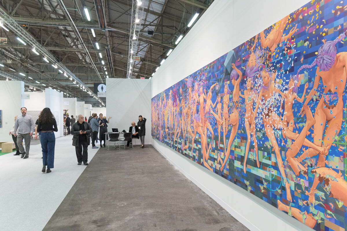 Installation view of work by Makoto Aida at Mizuma's booth at The Armory Show, 2017. Photo by Adam Reich for Artsy.