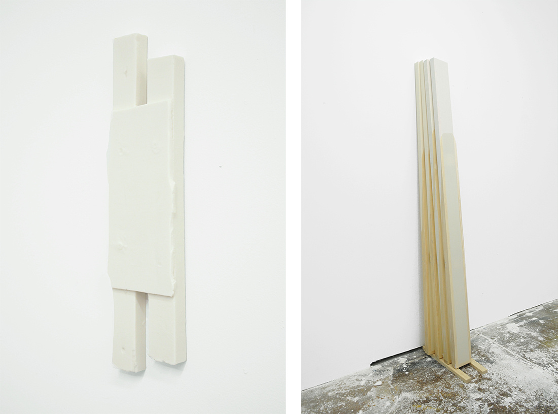 Jessica Sanders, Untitled AW2 (left) and Saturation AW Stack (right), both 2015, courtesy of the artist and KANSAS.