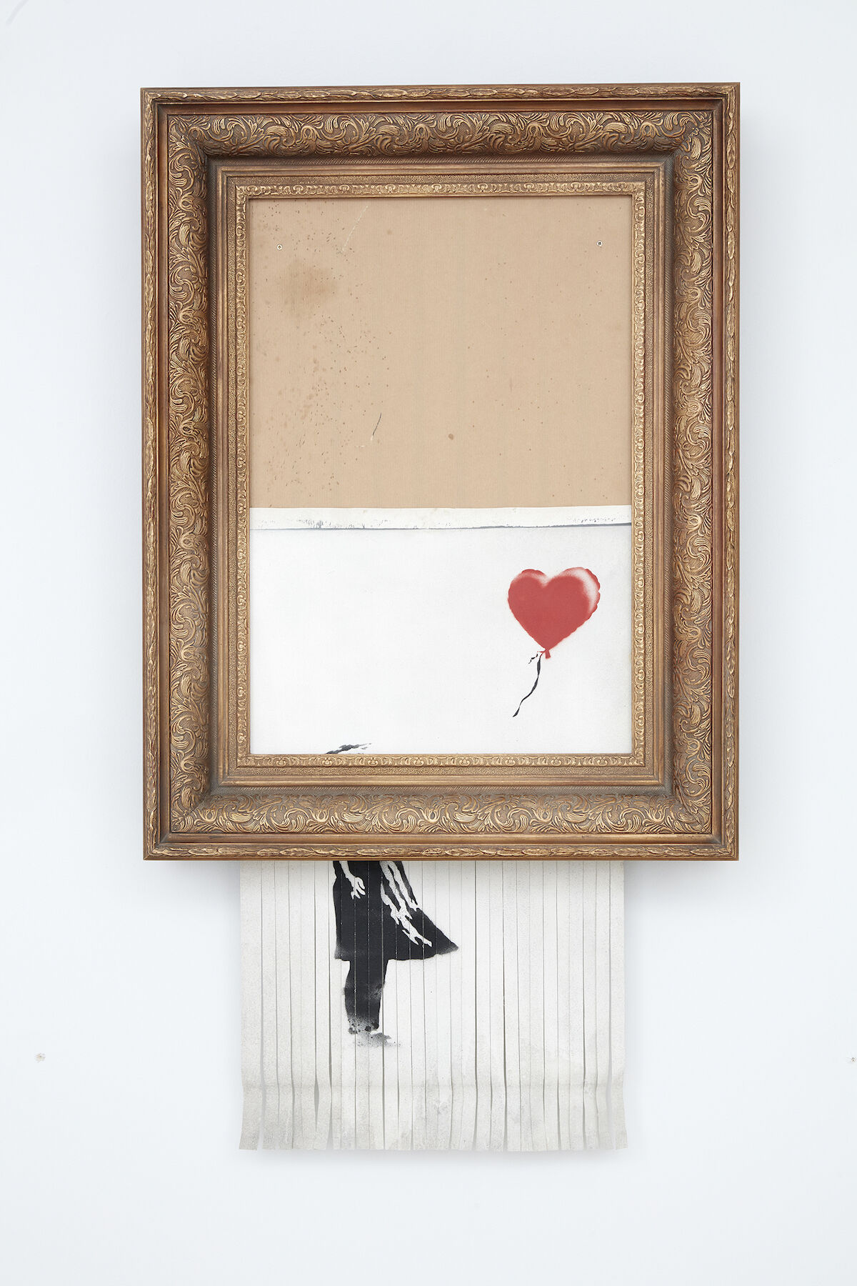 Bansky, Love is in the Bin, 2018. Sold for £1,042,000. Courtesy Sotheby's.