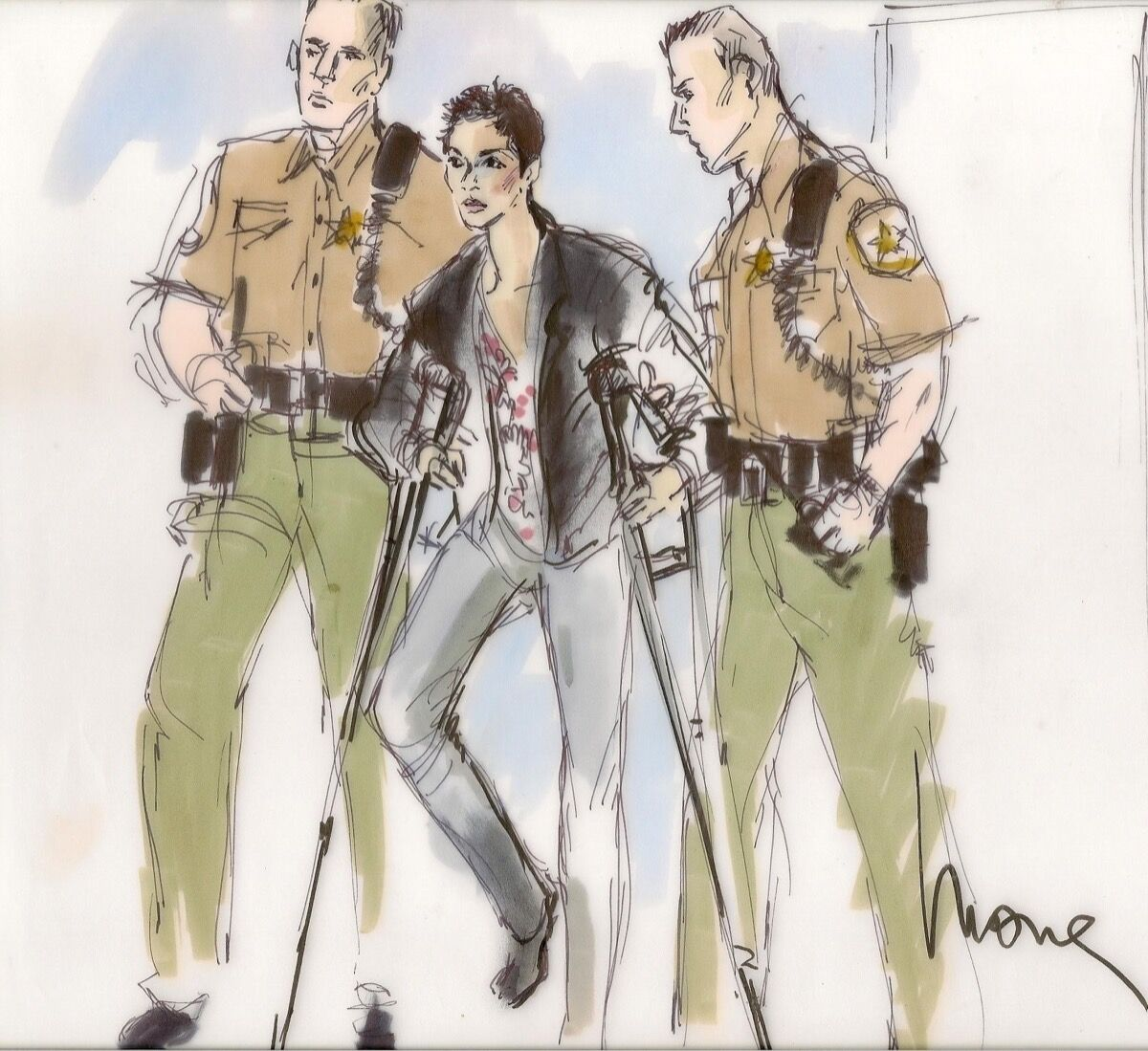 Illustration of Halle Berry by Mona Shafer Edwards.