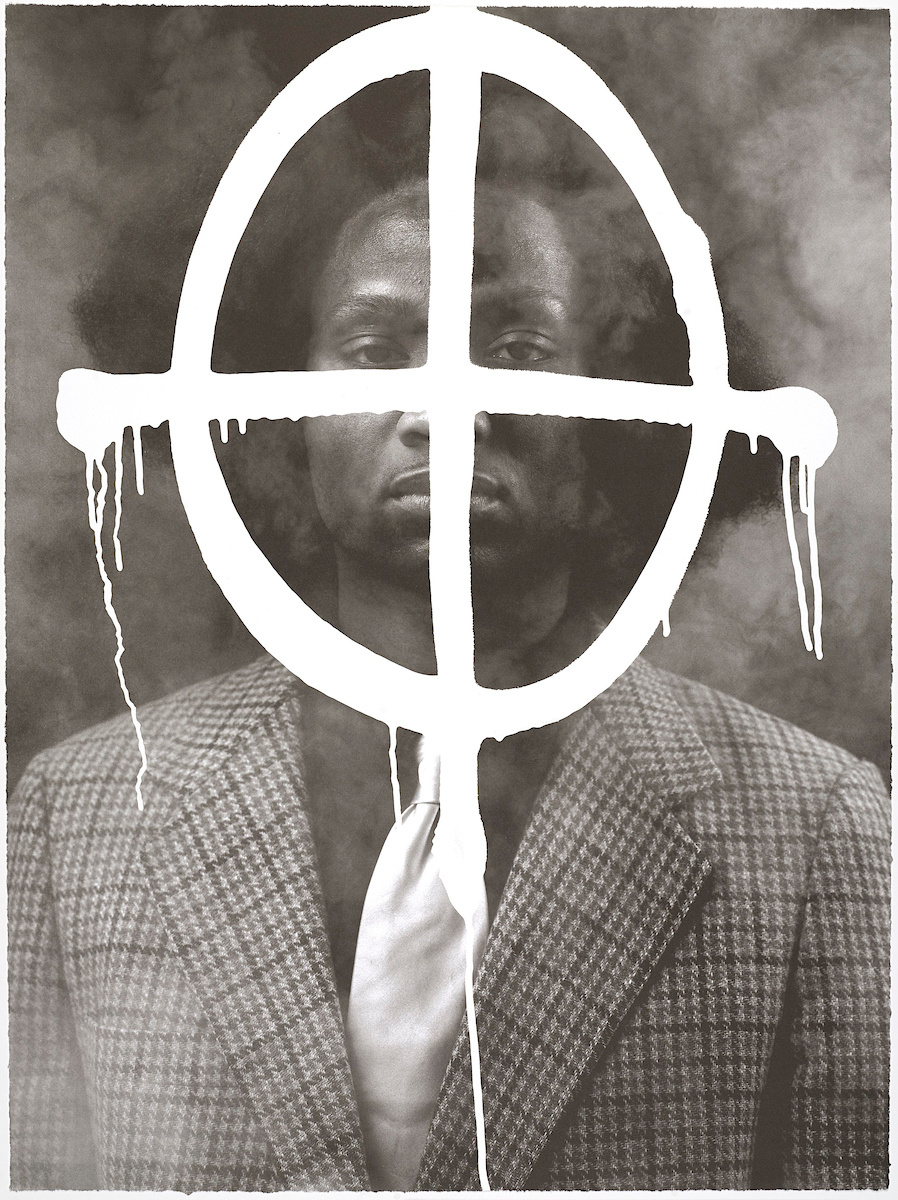 Rashid Johnson, Thurgood in the Hour of Chaos, 2009. Brooklyn Museum; Gift of Exit Art, 2013.30.28. © Rashid Johnson. Photo by Brooklyn Museum. Courtesy of Brooklyn Museum.