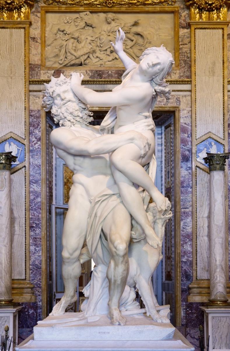 Gian Lorenzo Bernini, Pluto and Proserpina (The Rape of Proserpina), 1621-22. Image via Wikimedia Commons.