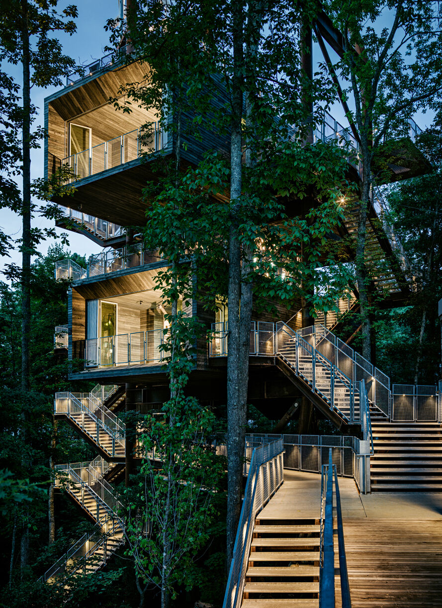 Sustainability Treehouse. Photo by Joe Fletcher. Courtesy of Mithun.