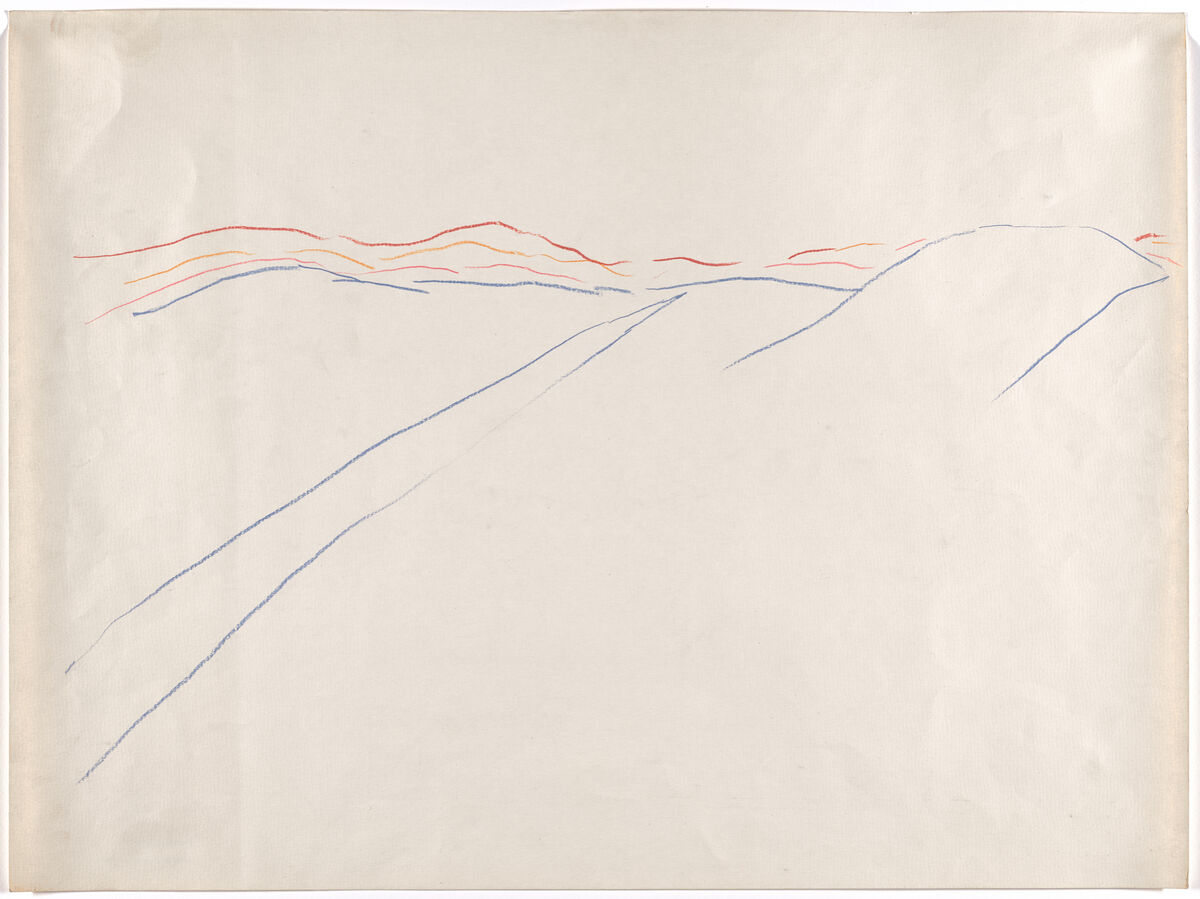 "Walter De Maria, Untitled (""For La Monte"") / (Two Lines in a Desert), 1963. © 2019 Walter De Maria. Courtesy of the Museum of Modern Art."
