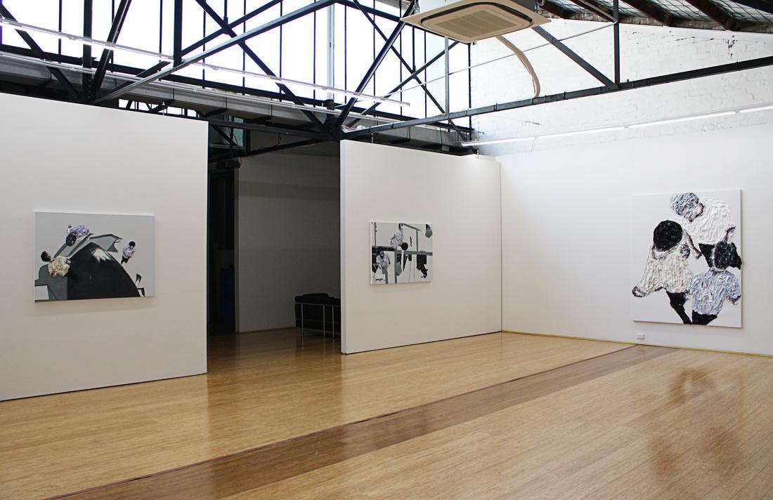 "Installation view of ""Clemens Krauss: Friction"" at Dominik Mersch Gallery, Sydney. Courtesy Dominik Mersch Gallery and the artist."