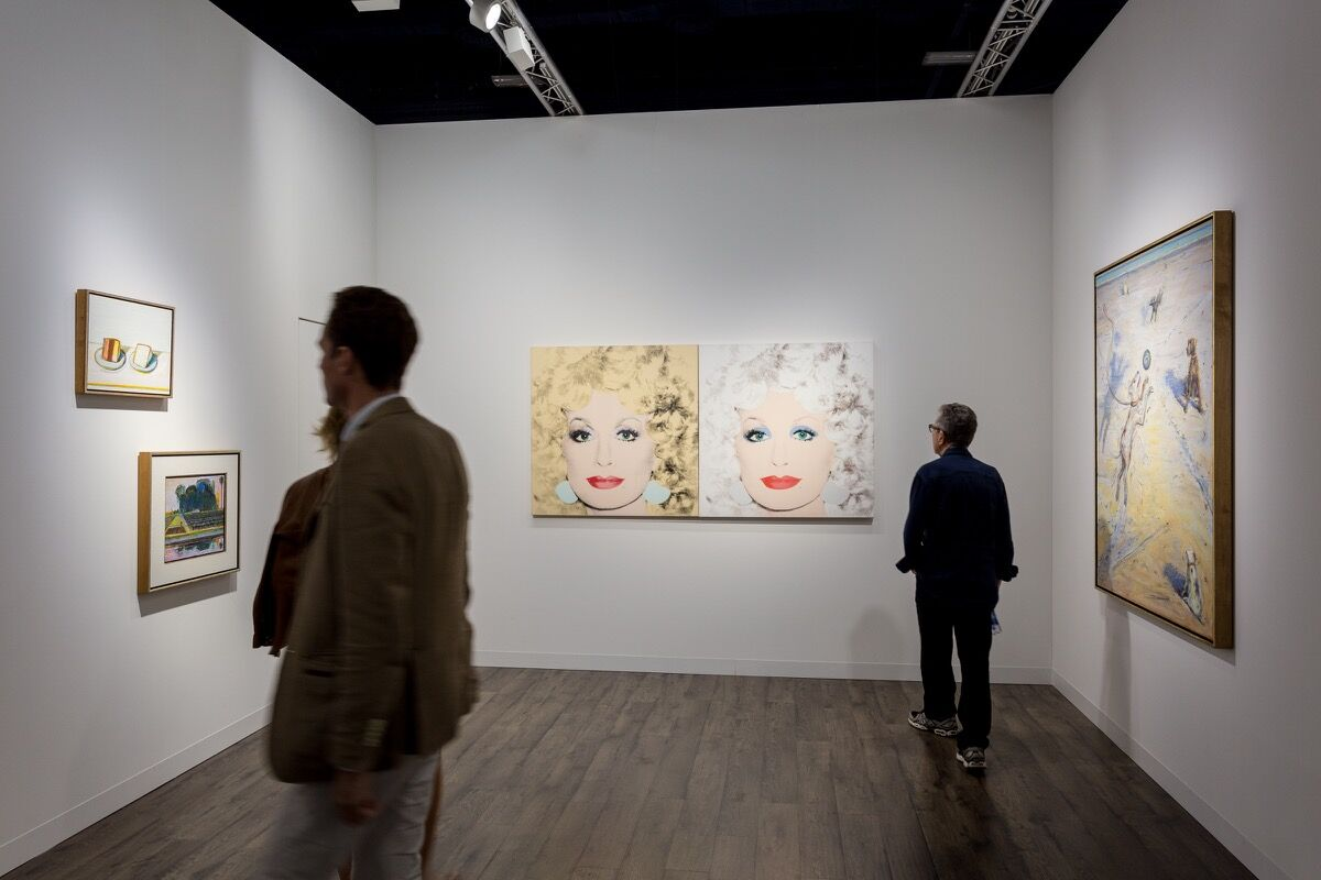 Installation view of Acquavella Galleries's booth at Art Basel in Miami Beach, 2016. Photo by Alain Almiñana for Artsy.