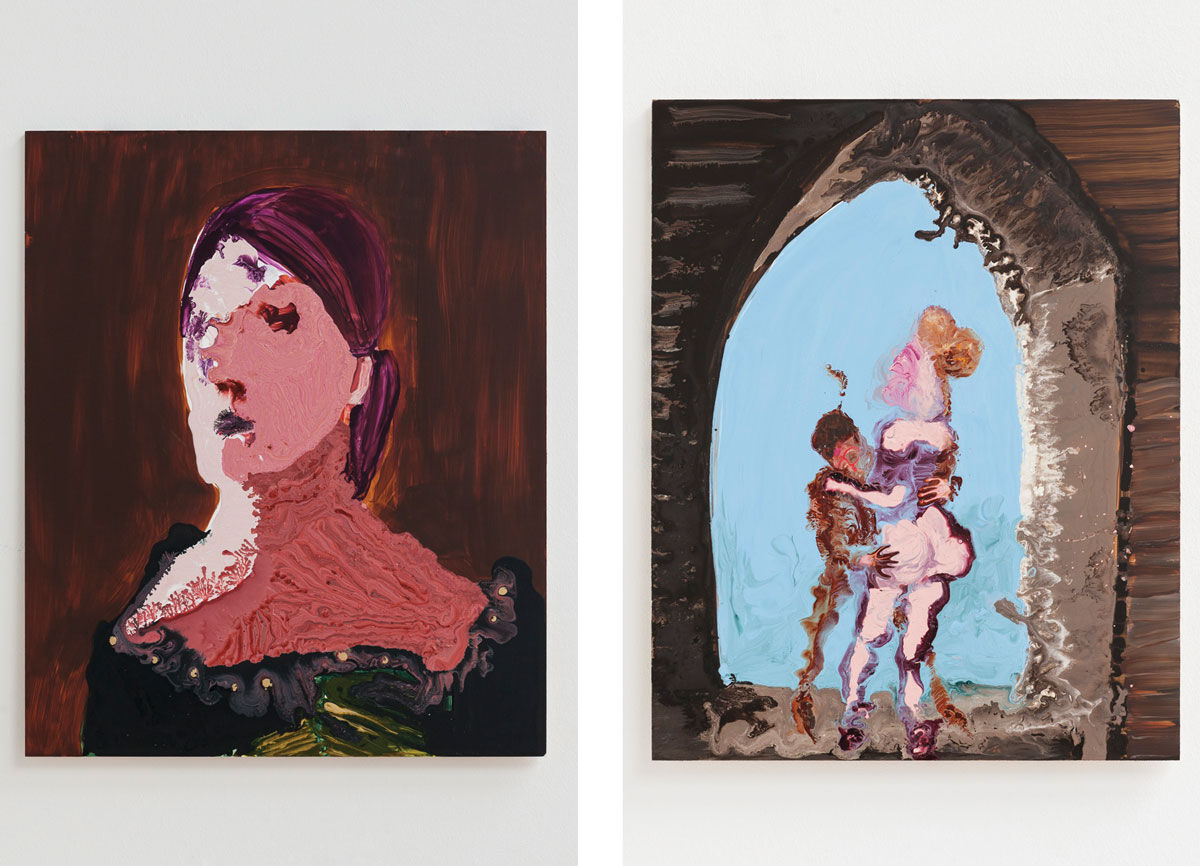 Left: Genieve Figgis, Lady Montague, 2016. Right: Genieve Figgis, A Quick Squeeze Under the Arch, 2016. Images courtesy of Half Gallery.