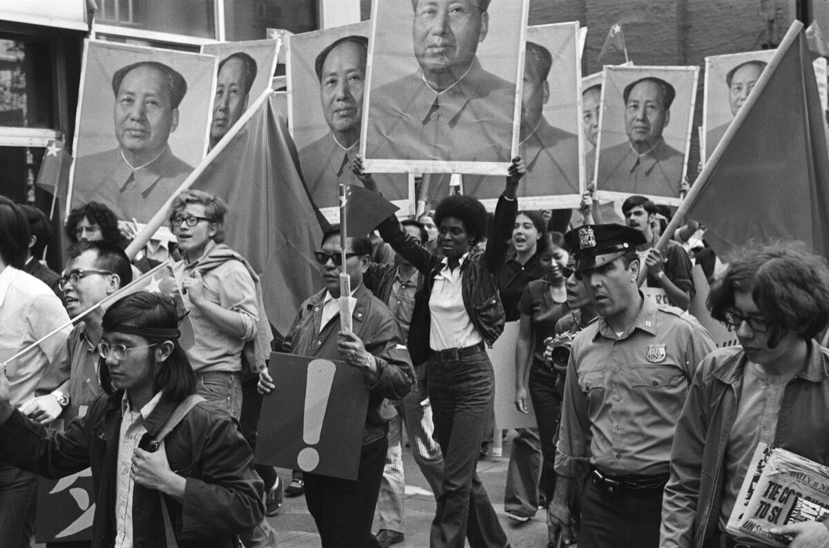 Woman holding Mao poster, September 21, 1971. Courtesy of the New York City Department of Records & Information Services.