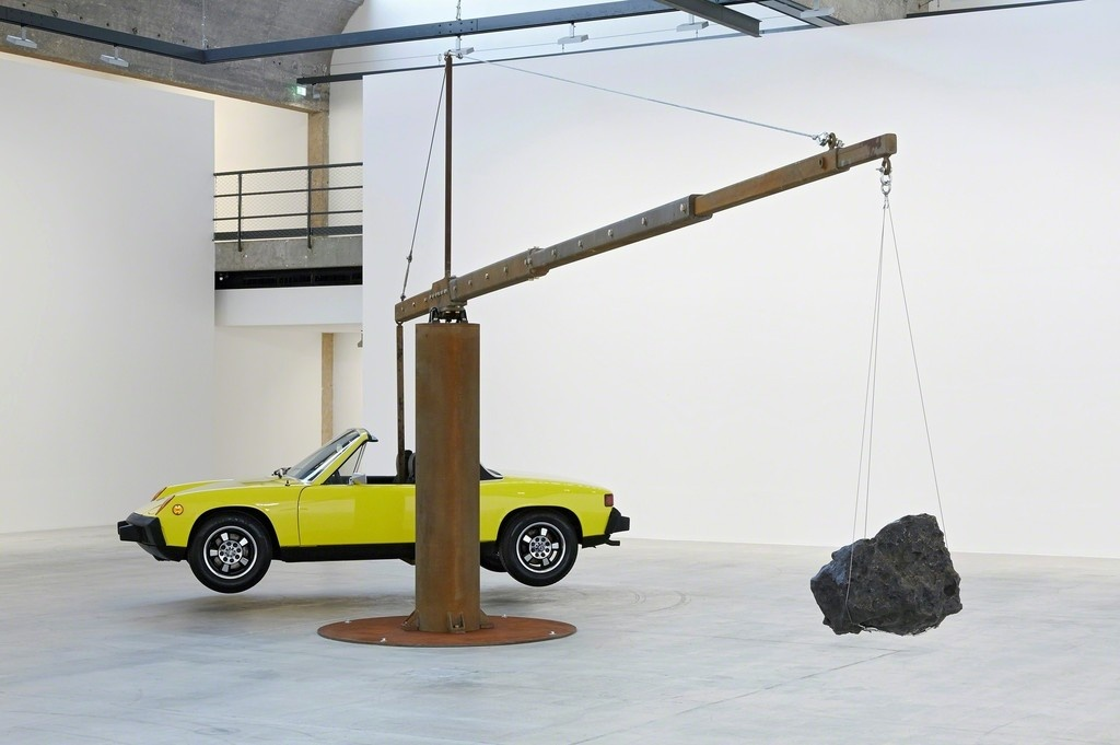 "Installation view of ""Chris Burden"" April 25–July 24, 2015, ©Chris Burden, courtesy of the artist and Gagosian Gallery, photograph by Thomas Lannes"