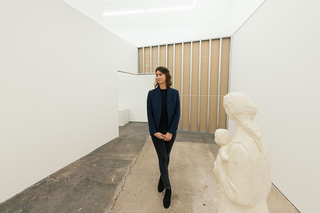 Mihaela Lutea, director of Galeria Plan B. Image courtesy of Plan B Cluj, Berlin (Photo credit:groupshow.eu).