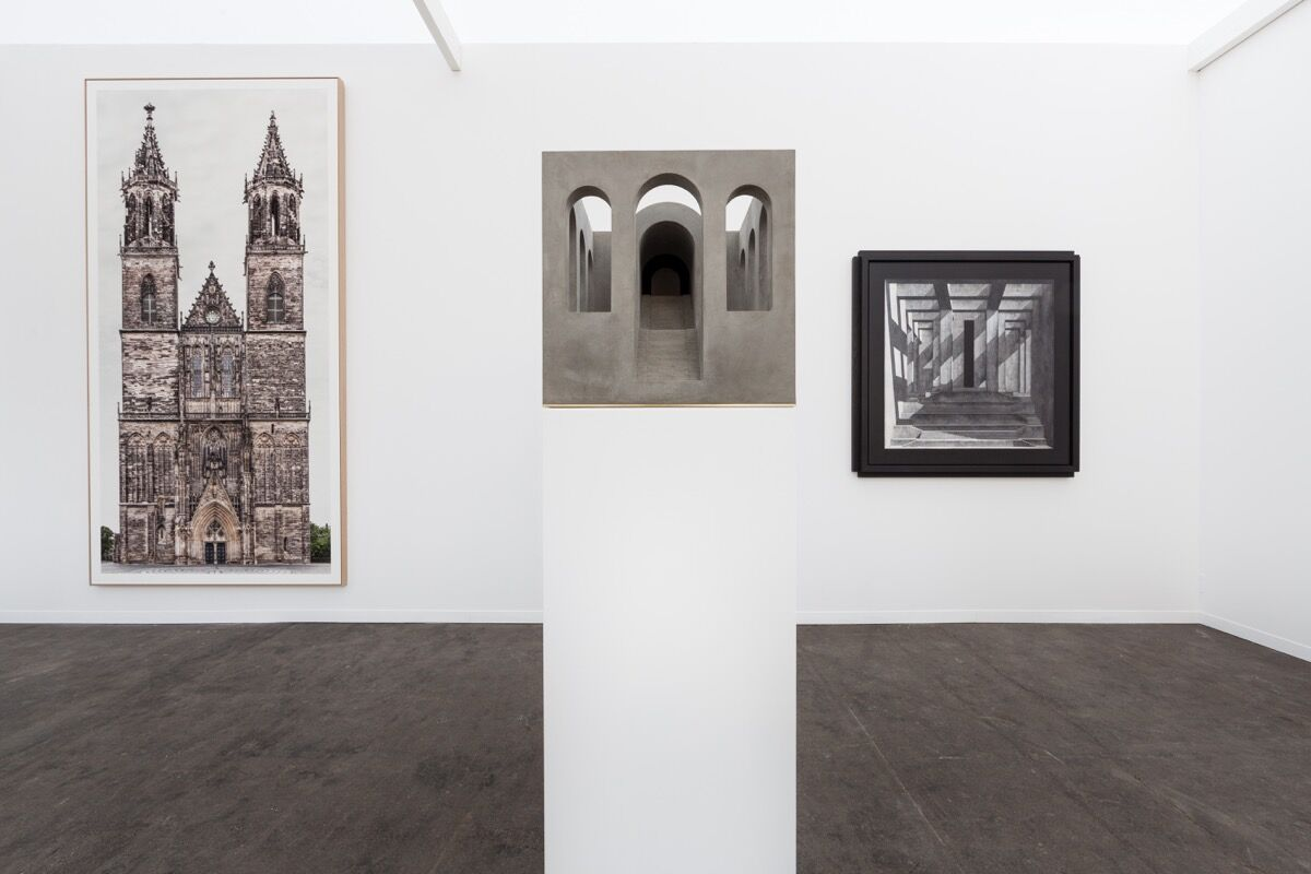 Installation view of Axel Vervoordt's booth at Art Brussels 2017. Photo © Sebastiaan Schutyser.