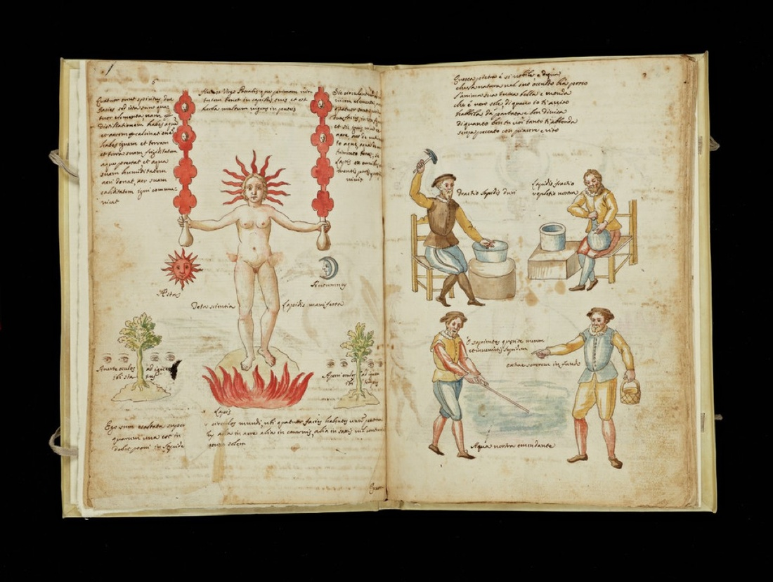 Claudio de Domenico Celentano di Valle Nove, Allegory of Distillation, ca. 1606. Image courtesy of the Getty Research Institute.