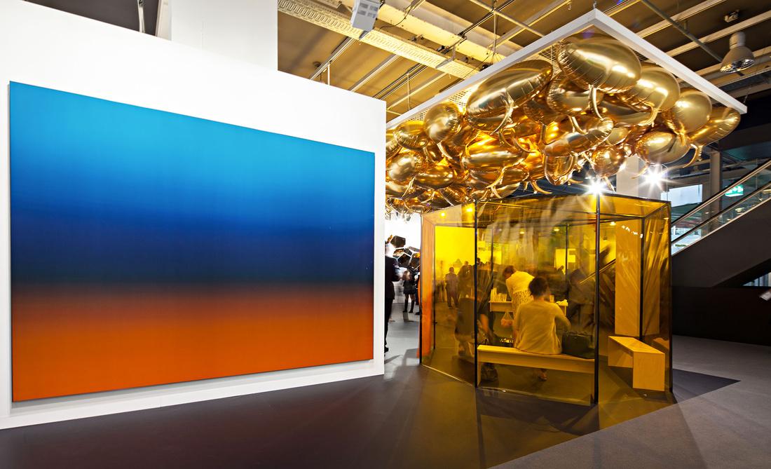 Esther Schipperat Art Basel 2015. Photo by Alec Bastian for Artsy.