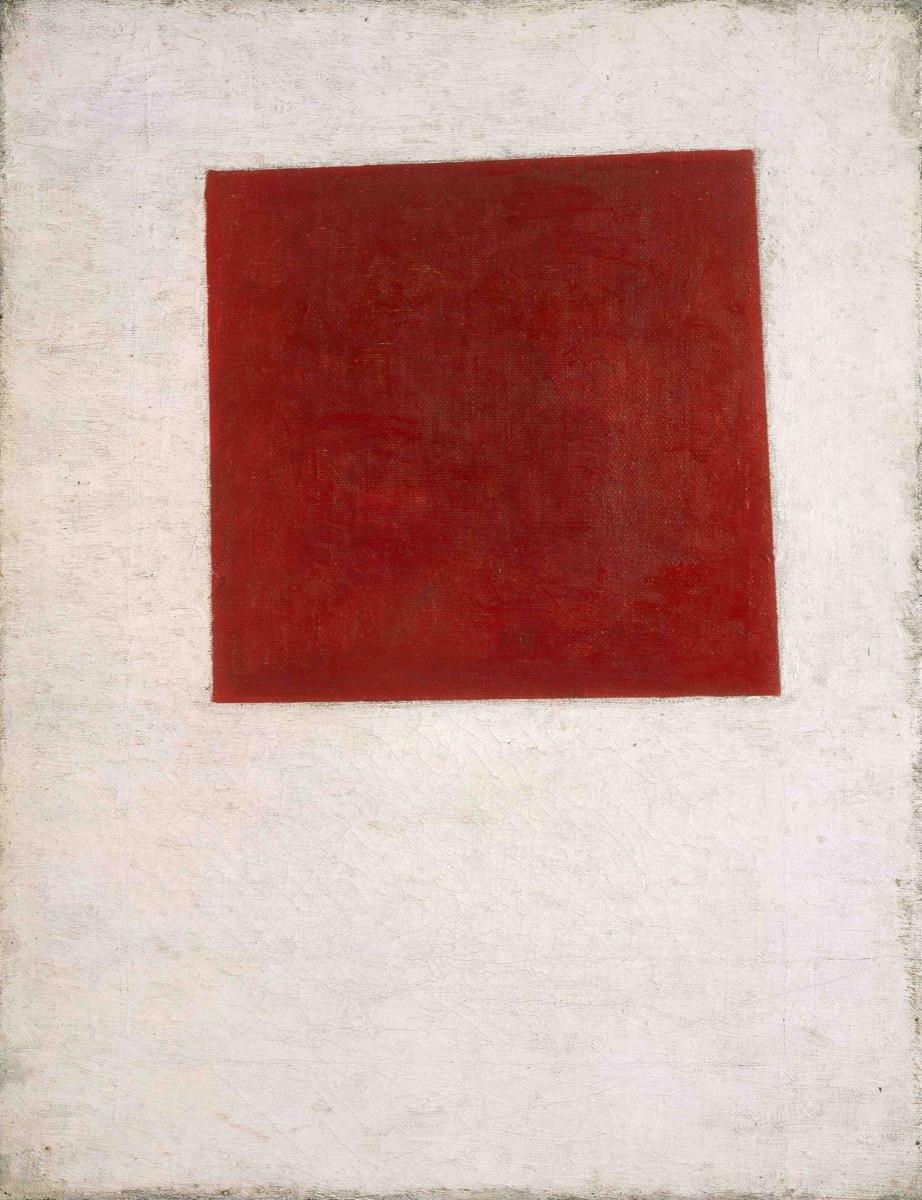 Kazimir Malevich, Red Square, 1915. Courtesy of Galerie Gmurzynska.