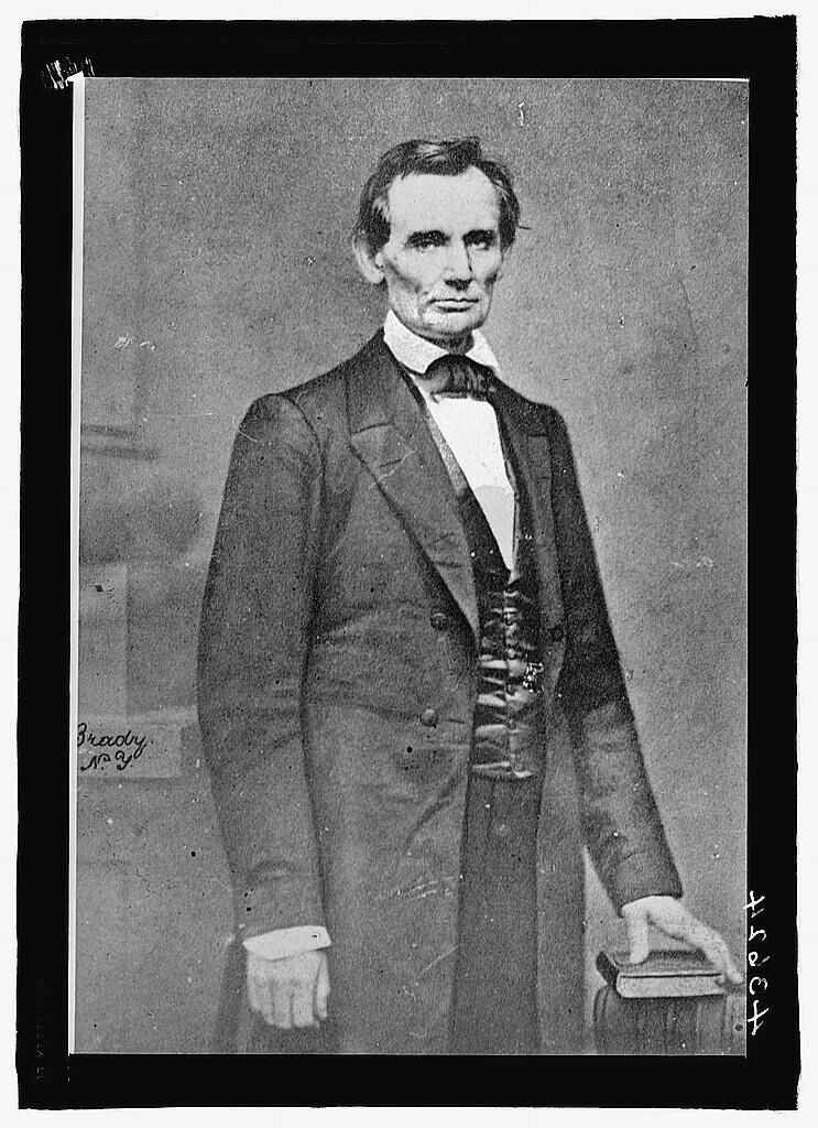 Lincoln Cooper Union photo, 1860. Courtesy of the Library of Congress.