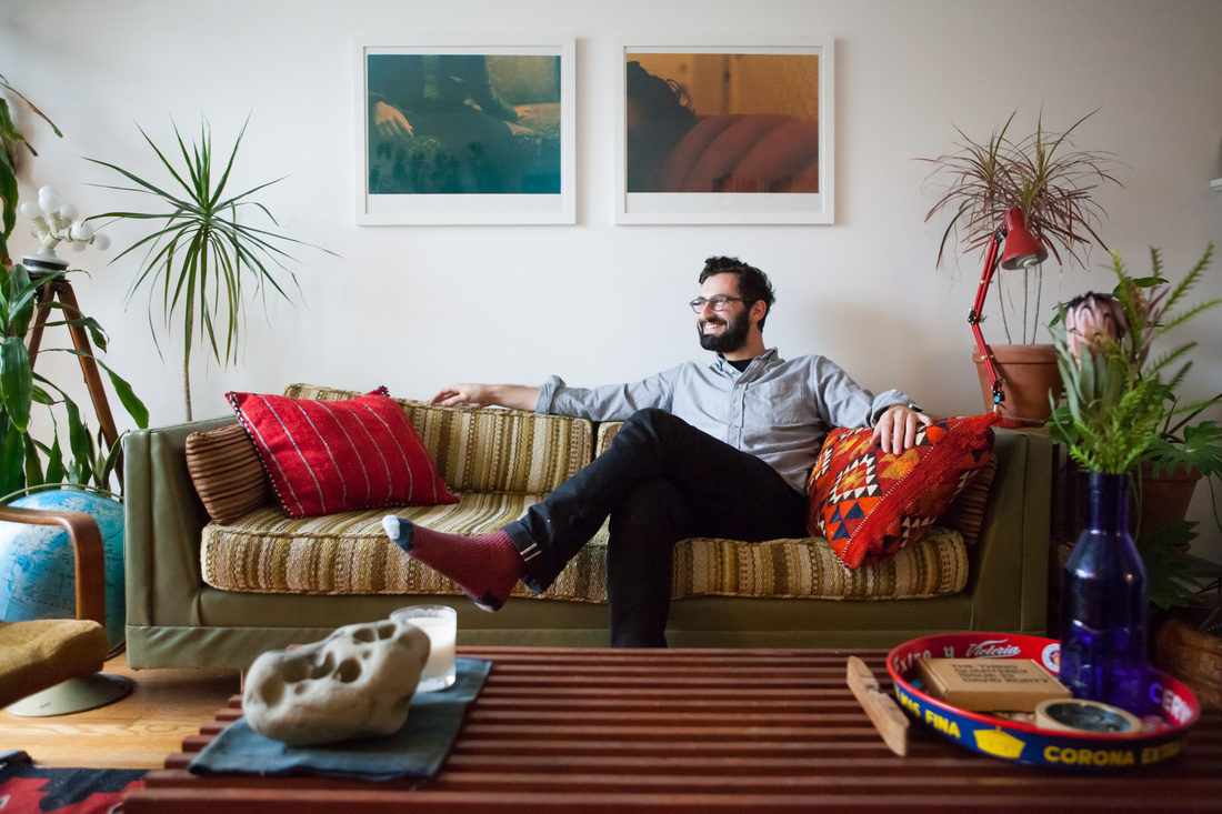 Photograph of Joseph Becker in his home in San Francisco by Margo Moritz for Artsy.