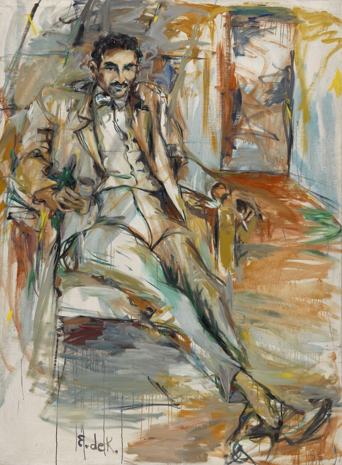 Elaine de Kooning, Harold Rosenberg #3, 1956. © Elaine de Kooning Trust. Courtesy of the National Portrait Gallery, Smithsonian Institution.