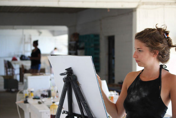 Photo courtesy of Skopelos Foundation for the Arts via Rate My Artist Residency.