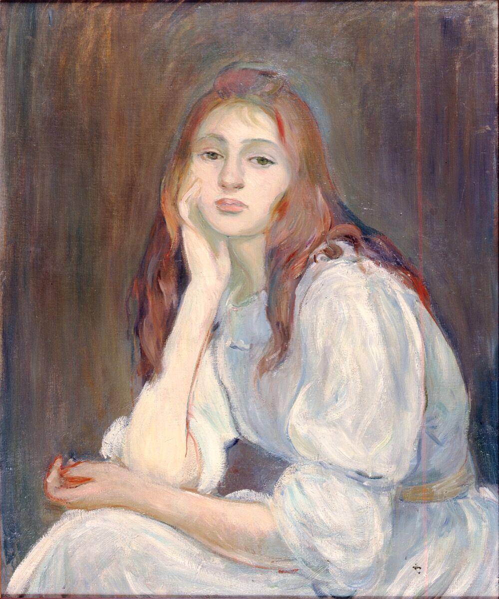 Berthe Morisot, Portrait of Miss J.M. (Julie Dreaming), 1894. Courtesy of Galerie Hopkins, Paris.