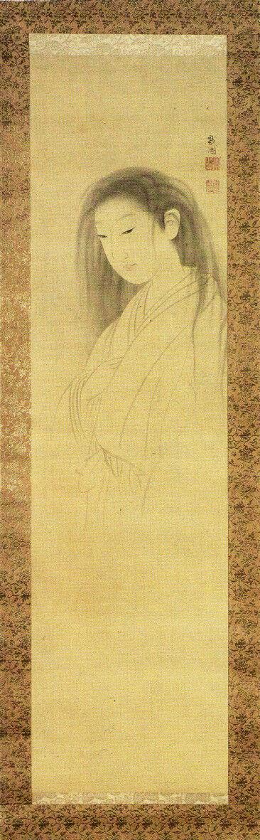 Maruyama Okyo, Ghost of Oyuki, 1750. Image via Wikimedia Commons.