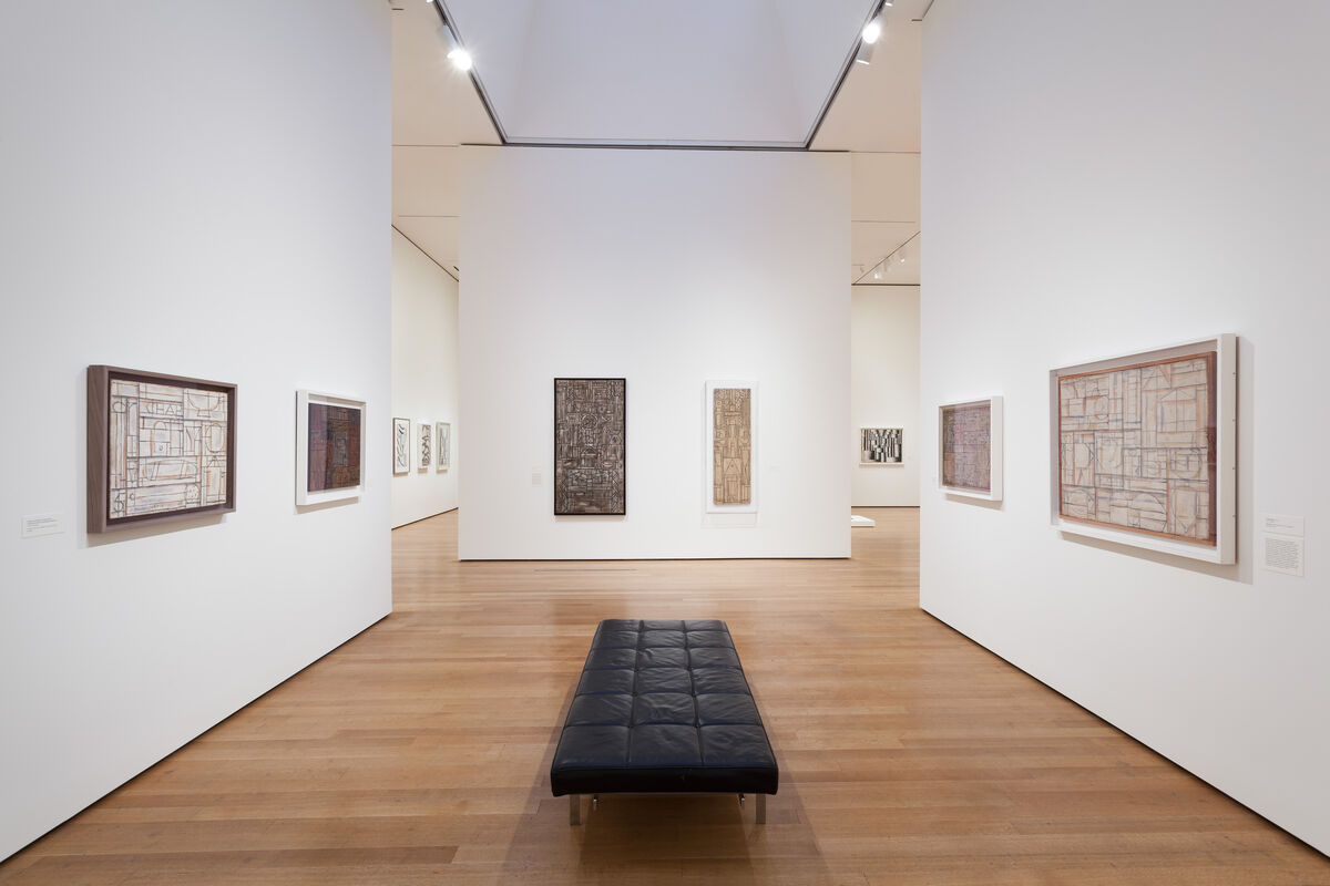 "Installation view of ""Joaquín Torres-García: The Arcadian Modern."" Photo by Jonathan Muzikar, courtesy of the Museum of Modern Art."