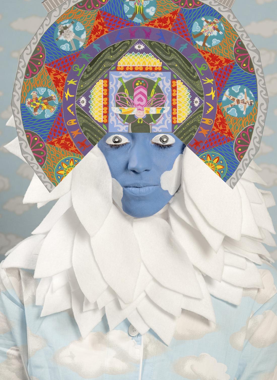 Saya Woolfalk, An Empathic Preparing to Paint Images from the Book Empathetic Plant Alchemy (Jillian), 2011. Copyright Saya Woolfalk, courtesy Leslie Tonkonow Artworks + Projects, New York.