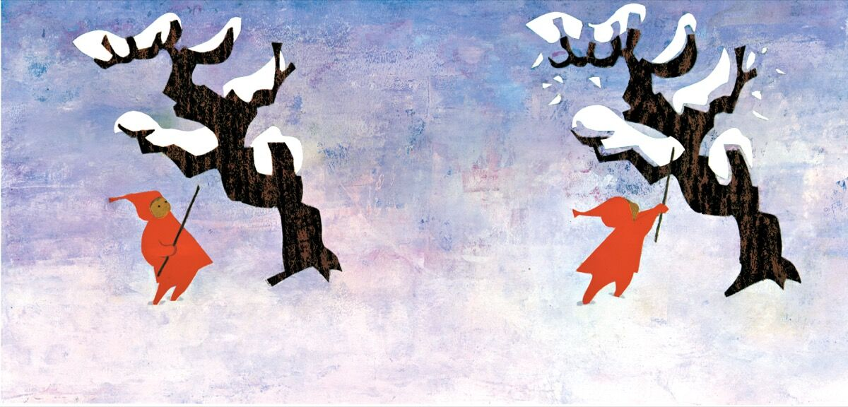 Illustration from Ezra Jack Keats's The Snowy Day, 1962. Courtesy of the Ezra Jack Keats Foundation.