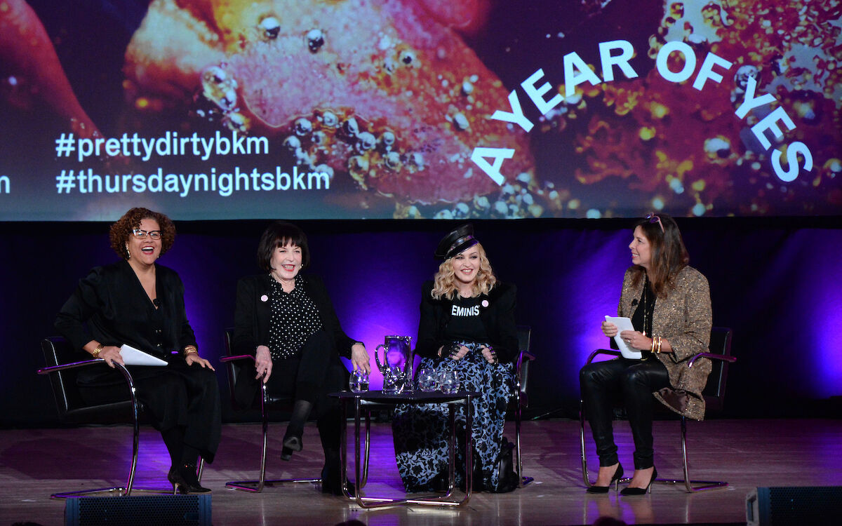 Brooklyn Talks: Madonna X Marilyn Minter. Photograph by Kevin Mazur/Getty Images. Courtesy of the Brooklyn Museum.