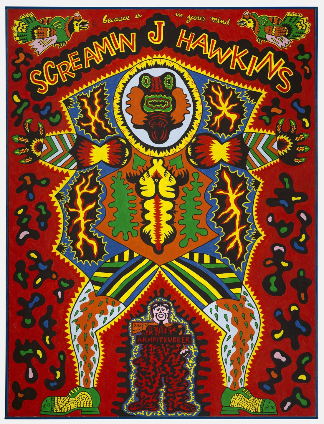 Karl Wirsum. Screamin' Jay Hawkins, 1968. The Art Institute of Chicago, Mr. and Mrs. Frank G. Logan Purchase Prize Fund. ˝ Karl Wirsum. On view in Hairy Who? 1966–1969 at The Art Institute.