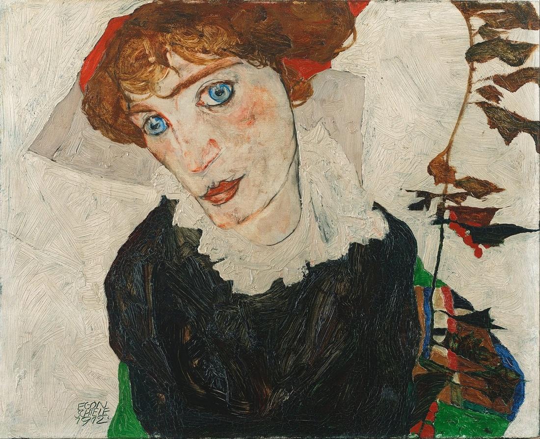 Egon Schiele, Portrait of Wally, 1912. Image via Wikimedia Commons.