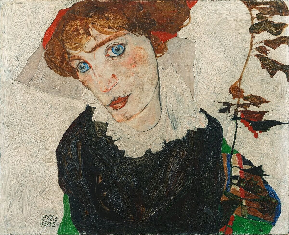Egon Schiele, Portrait of Wally, 1912. Image via Wikimedia Commons.