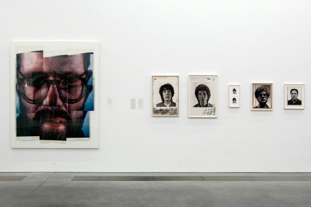 """Installation view of""""Chuck Close Photographs,"""" courtesy of theParrish Art Museum."""