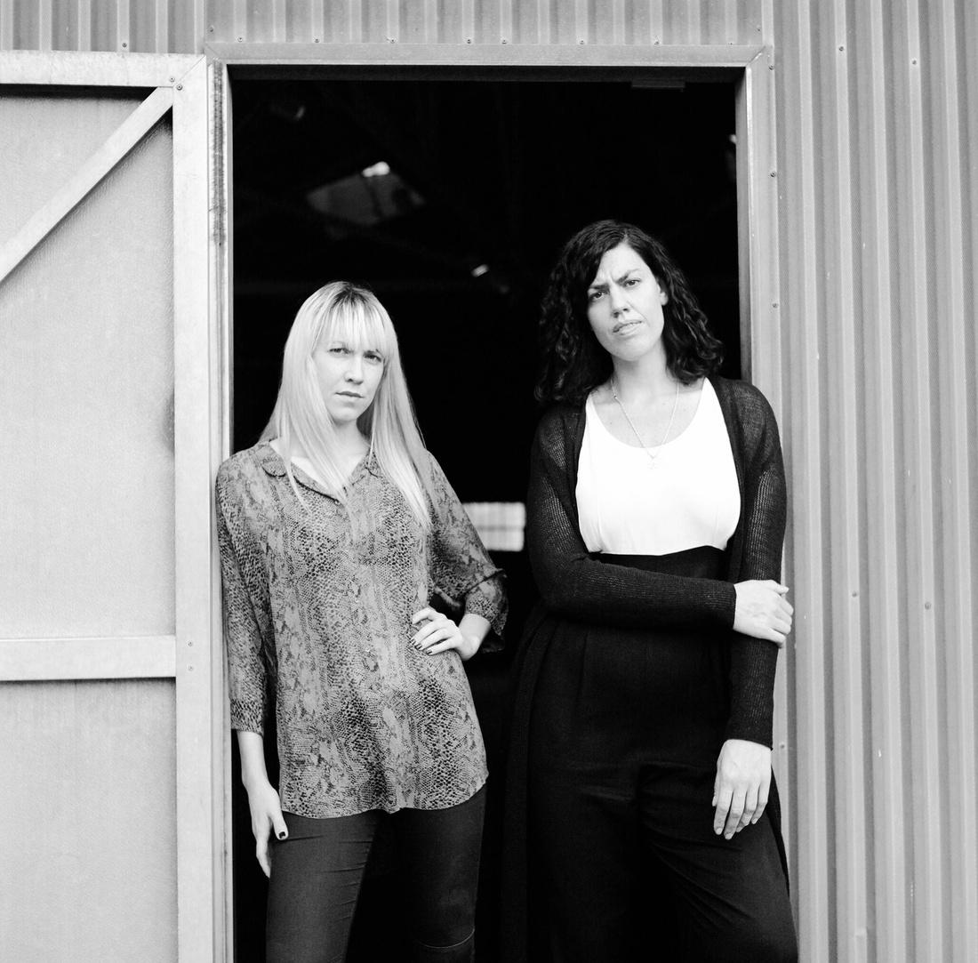 Mieke Marple and Davida Nemeroff of Night Gallery. Photo by Megan McIsaac, courtesyof Night Gallery.