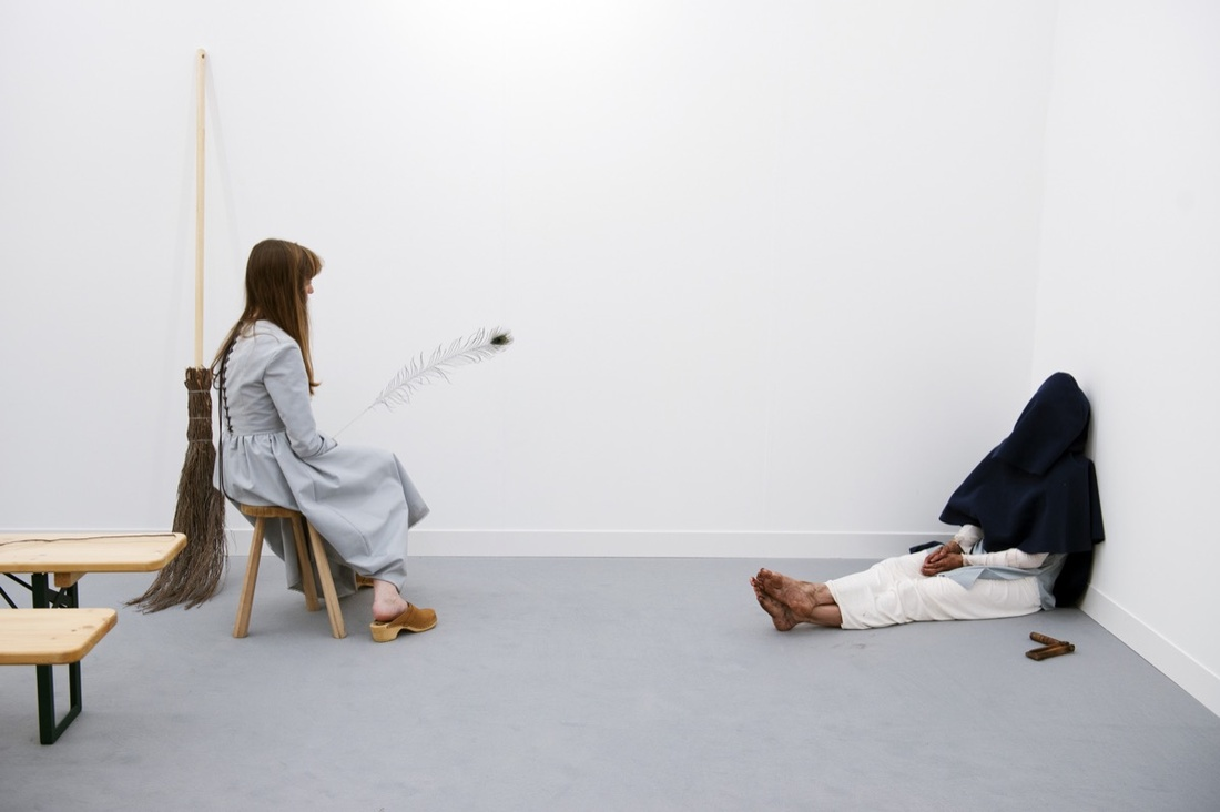 Installation view of work by Pierre Joseph at Air de Paris's booth, The Nineties, Frieze London, 2016. Photograph by Linda Nylind. Courtesy of Linda Nylind/Frieze.