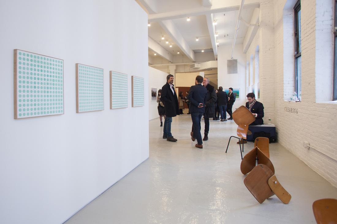 Work by Koenraad Dedobbeleer and Loïc Raguénès at C L E A R I N G, Independent 2015. Photo by Nick Simmons for Artsy