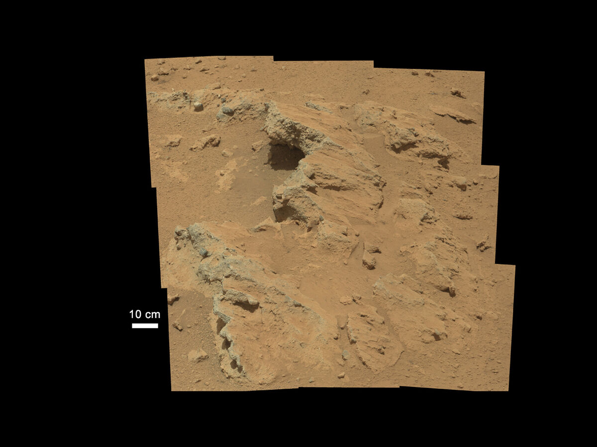 Ancient Streambed at Hottah, 2012. Photo by Curiosity. © NASA/JPL-Caltech/MSSS.