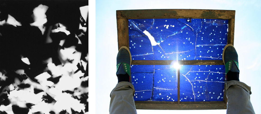 Left: September 2016's artwork: April Friges,Little Spectator 0816; Right: June 2016's artwork: Casey Droege, North Star. Images courtesy of Start with Art.