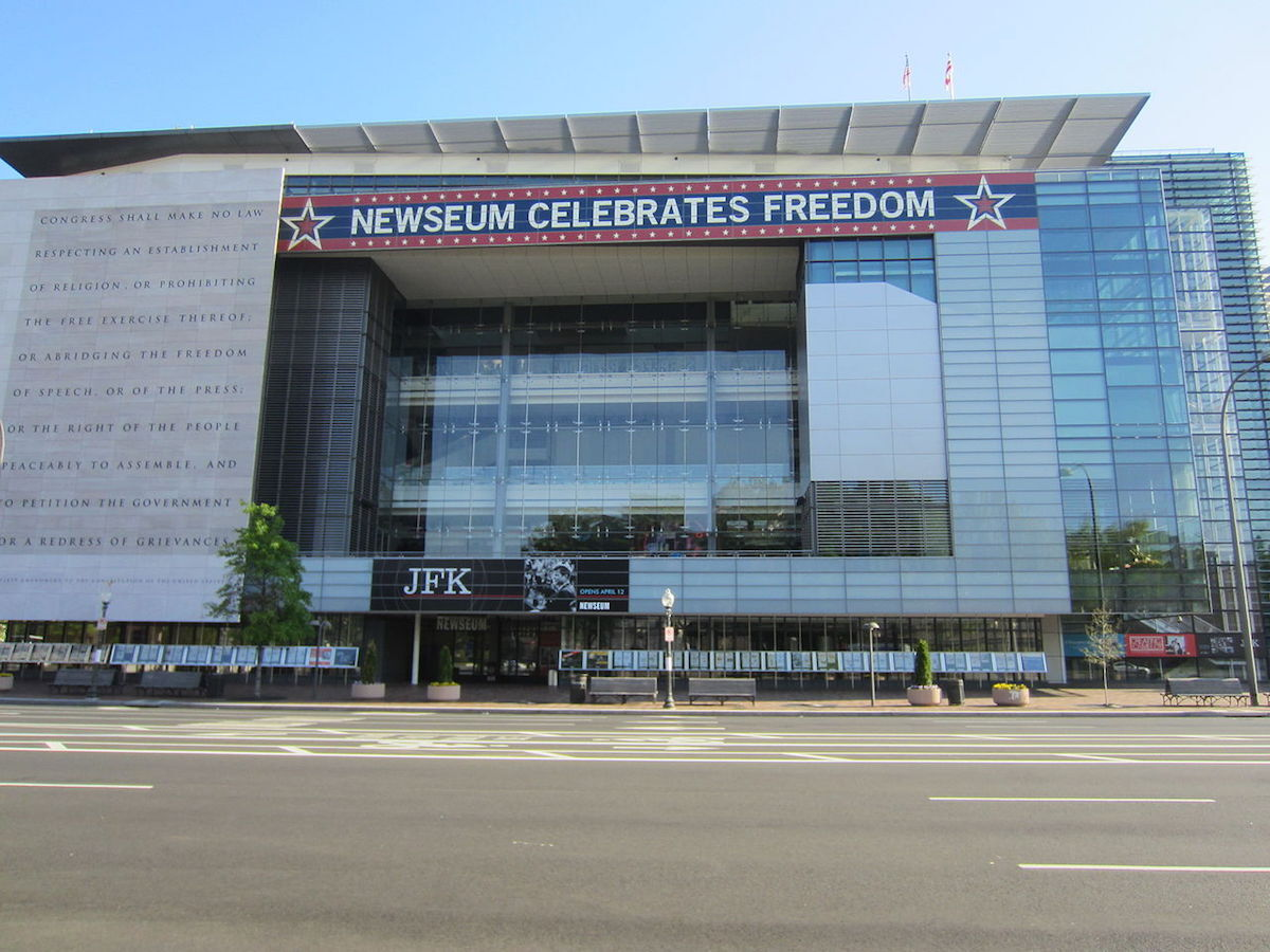 The Newseum in Washington, D.C. Photo by Another Believer, via Wikimedia Commons.