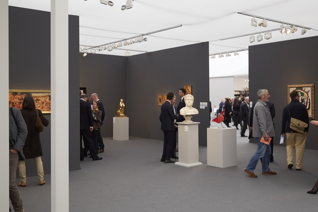Installation view of Hauser & Wirth and Moretti Fine Art's jointbooth at Frieze Masters, 2015. Photo by Benjamin Westoby for Artsy.