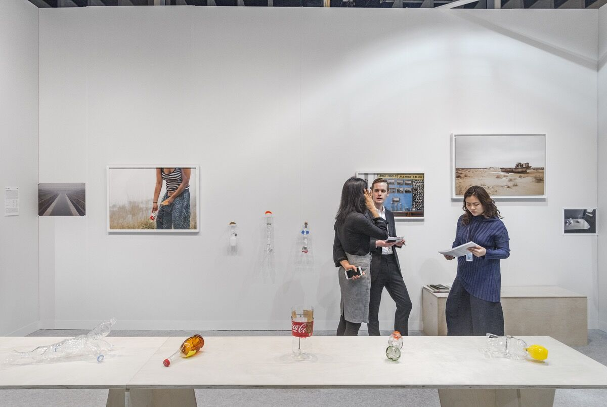 Installation view of Bank's booth at The Armory Show, 2018. Photo by Adam Reich for Artsy.