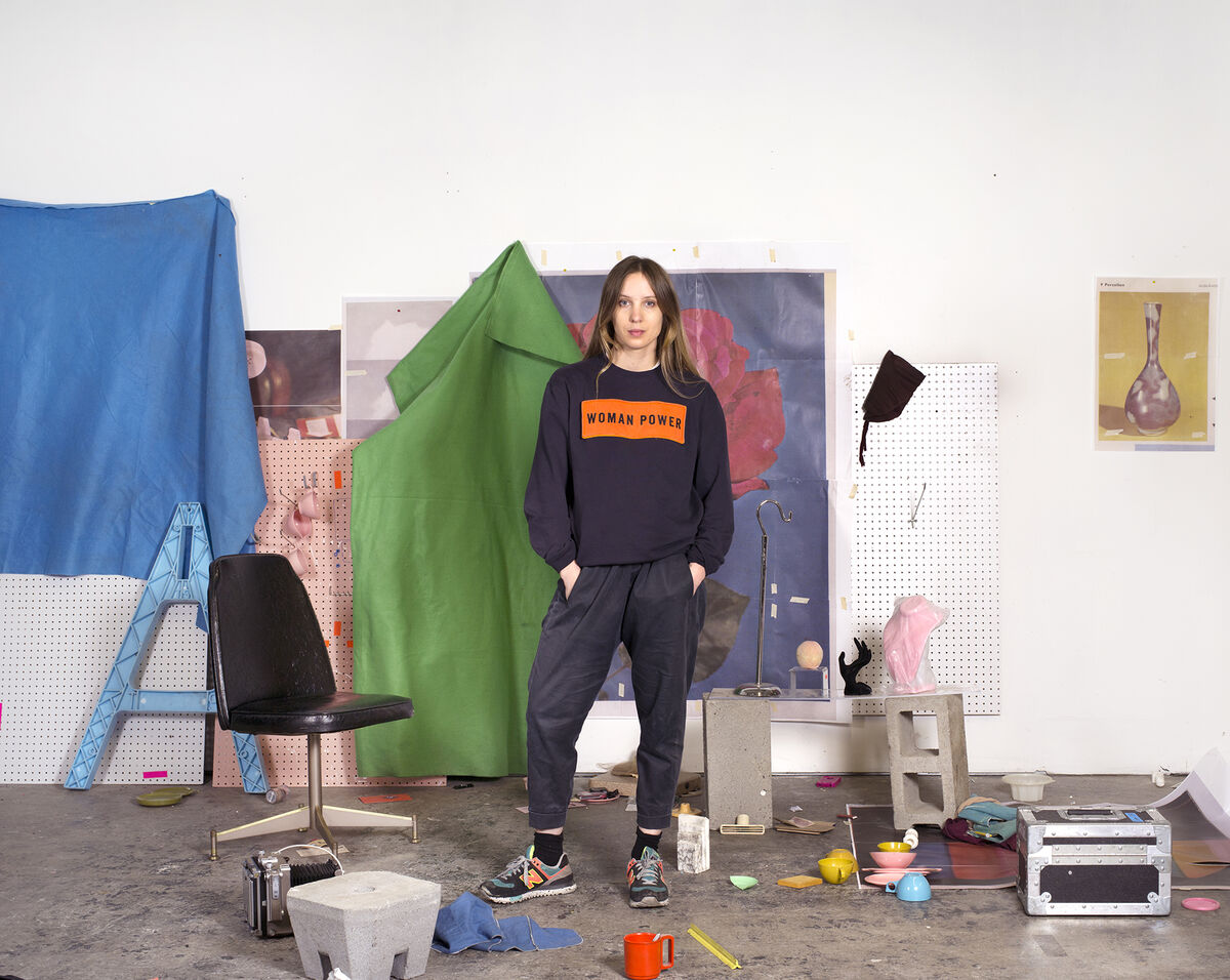 Self portrait of Sara Cwynar in New Haven, Connecticut studio. Image courtesy of the artist.
