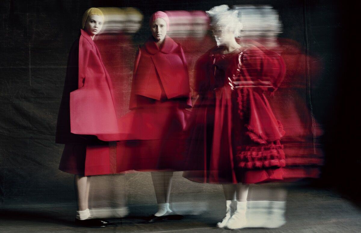 Rei Kawakubo for Comme des Garçons. Photograph by © Paolo Roversi. Courtesy of Comme des Garçons and the Metropolitan Museum of Art.