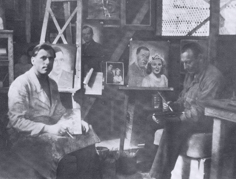 Bill in his studio. Courtesy of Alexander Art.