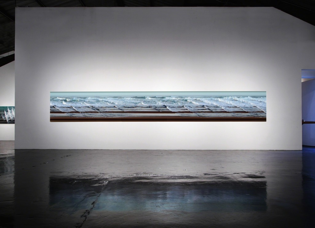 """Installation view of""""Jay Mark Johnson: WAVE LENGTHS,"""" courtesy of William Turner Gallery."""