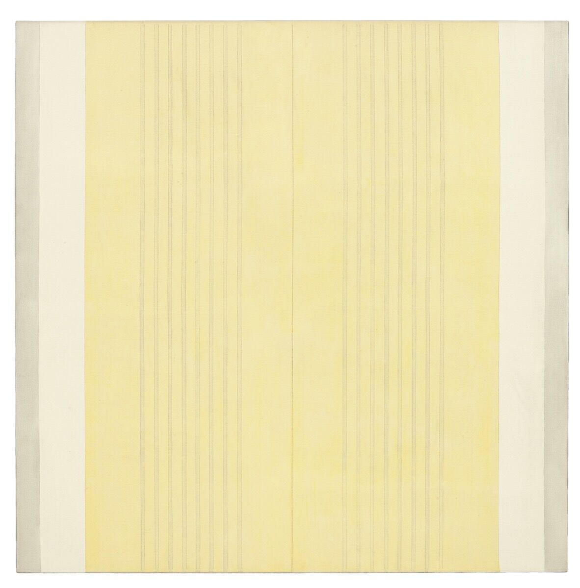 Agnes Martin, Untitled #5, 2002. © 2018 Estate of Agnes Martin / Artists Rights Society (ARS), New York. Courtesy of Pace.