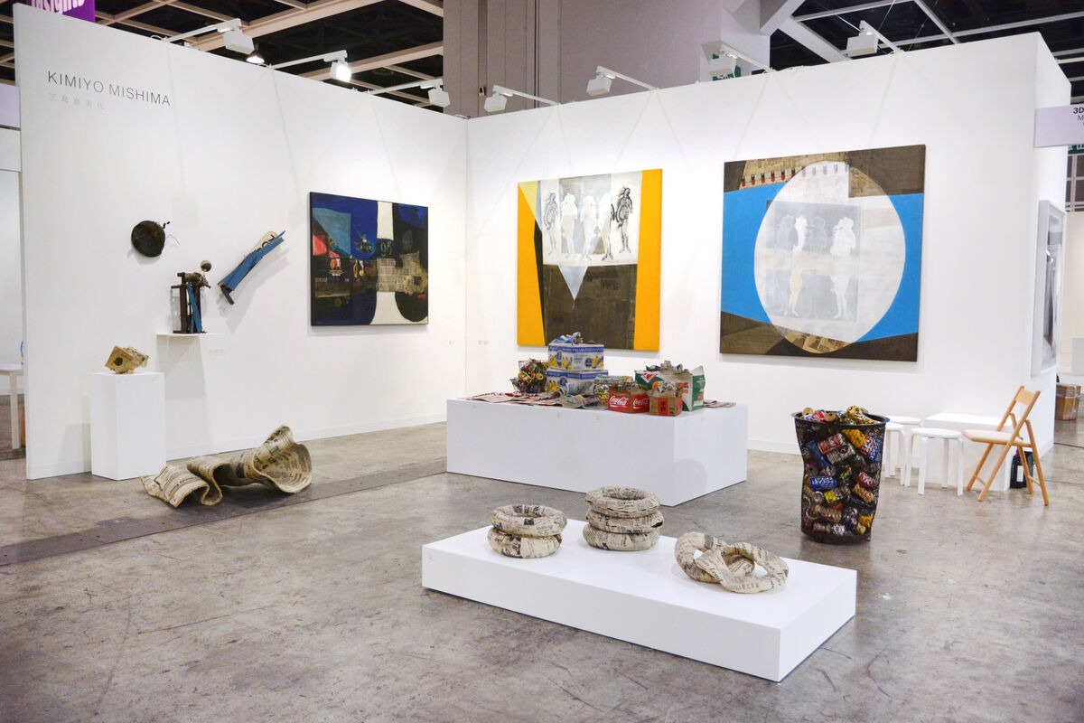Installation view of MEM's booth at Art Basel in Hong Kong, 2016. Courtesy of the gallery.