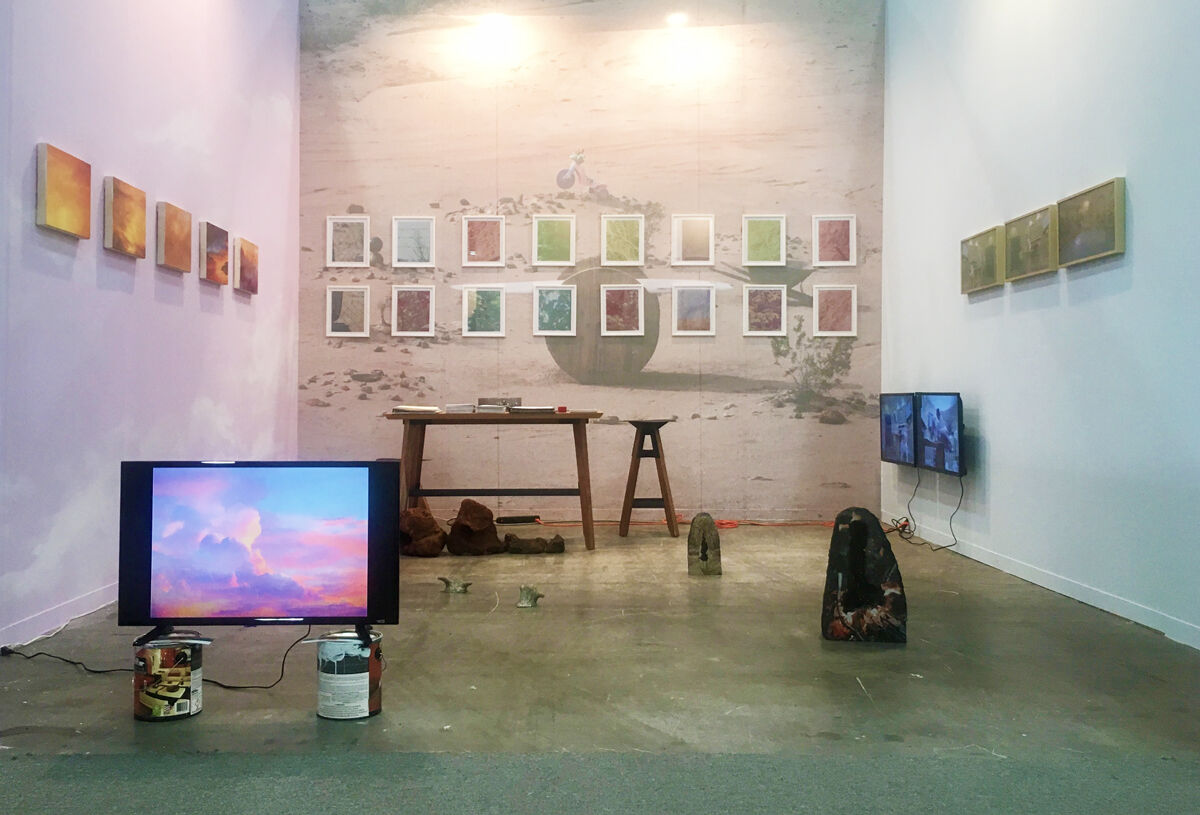 Installation view of Anonymous Gallery's booth at ZⓢONAMACO, 2017. Photo courtesy of Anonymous Gallery.