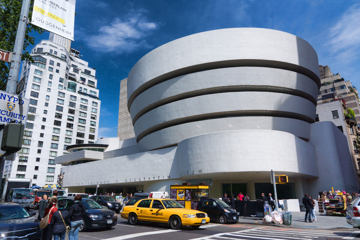 The Guggenheim Museum in New York City. Photo by Jean-Christophe BENOIST, via Wikimedia Commons.