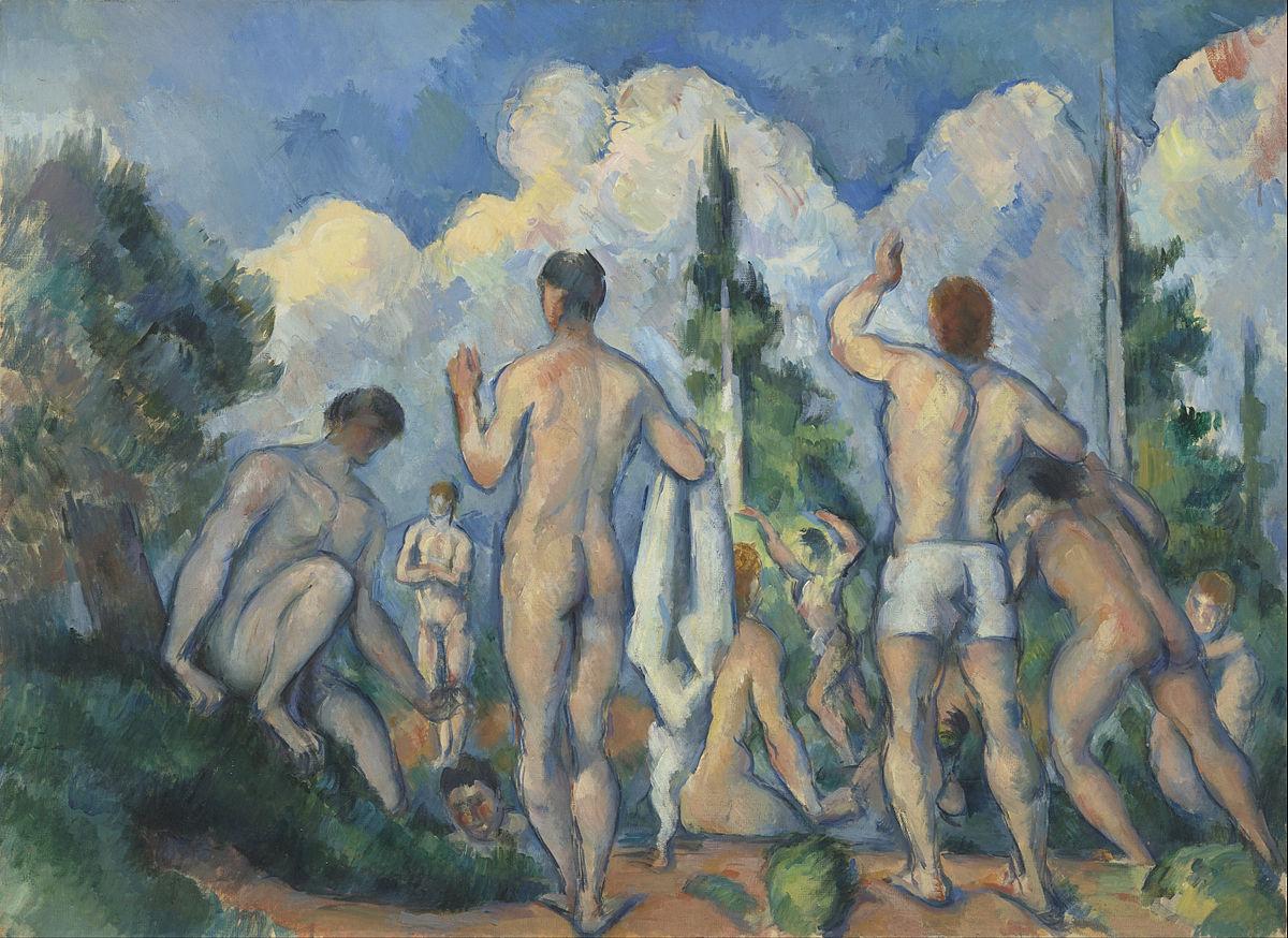 Paul Cézanne, Bathers, 1892–94. Image via Wikimedia Commons.